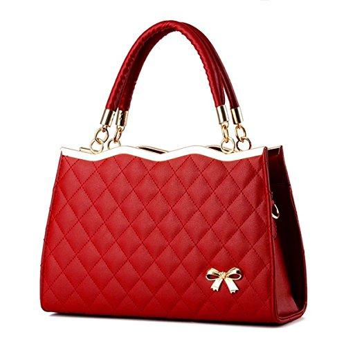 Señoras bolso bolso de moda paquete de diagonal, rojo Vino tinto