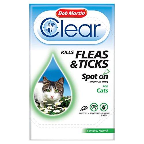 Bob Martin Clear Cat Kitten Spot On Fleas & Ticks Treatment, 3 Tubes, Up to 2...