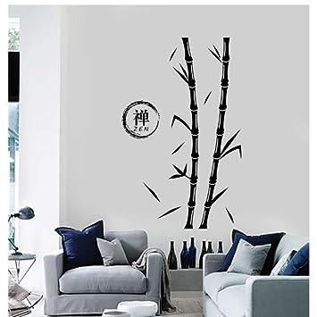 Tatuajes de pared Árbol Bambú Zen Enso Círculo Pegatina de vinilo ...