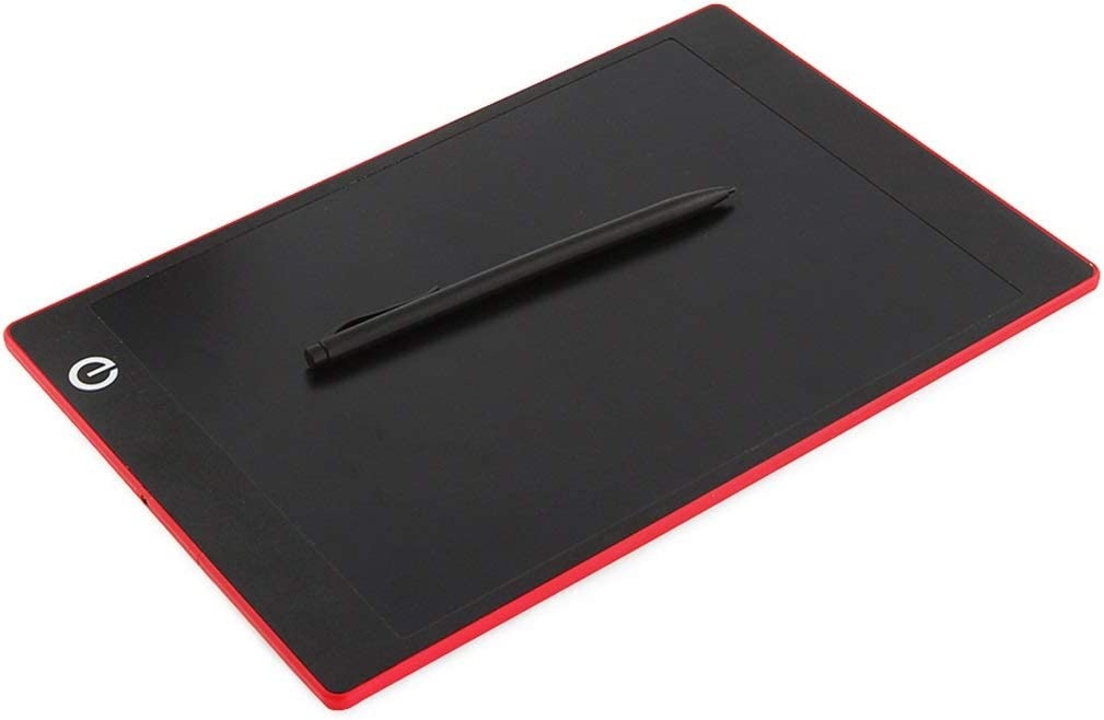 Color Drawing Board Touch Office Children Memo One-Click Delete 9.7 Inch LCD Writing Board//Light Energy Small Blackboard Red