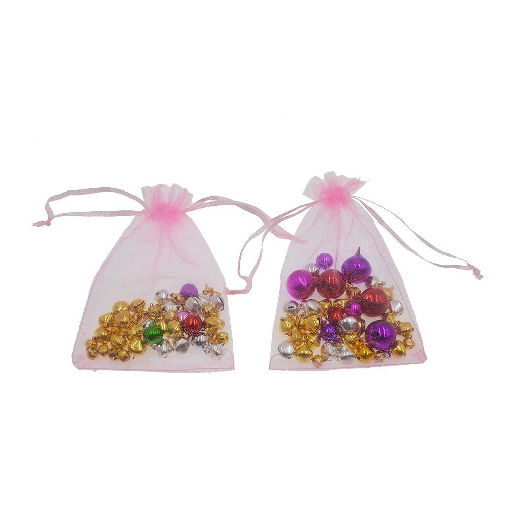 Beige Organza 8cm*10cm AsentechUK/® 100/pcs 8/cm*10/cm Pochette Drawable Organza Sacs de Mariage Sacs Bijoux Emballage Organza Sacs et Pochettes