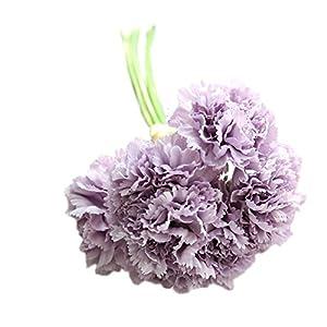 Freedi Bouquet Wedding Silk Carnation Flowers Artificial Bridal Handmade Bridesmaid Decor 1