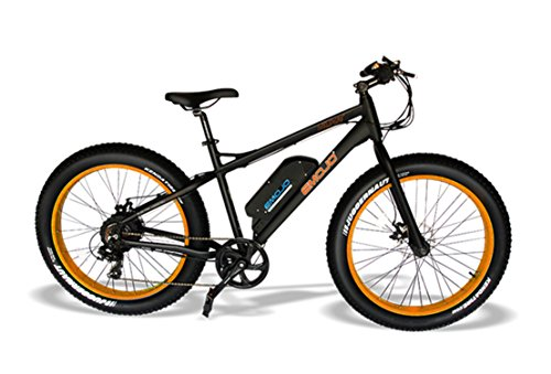 Emojo Wildcat Electric Bike Mountain 26 inch Fat Tire Electric Power Bicycle, with 500W Motor and Removable 48V 10.4AH Lithium Battery (BOG) For Sale