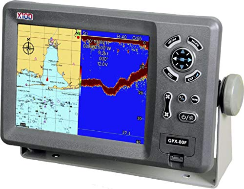 (X10D GPS Chartplotter GPX-80F Complete with Plastic Thru-Hull transducer)