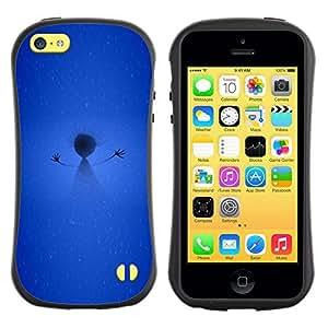 Pulsar iFace Series Tpu silicona Carcasa Funda Case para Apple iPhone 5C , Bâton Figure