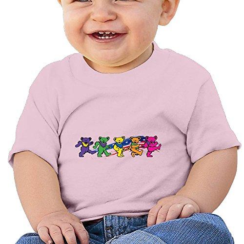 Bro-Custom Cute Colour Bear Design Kid's Cartoon T-shirt Pink Size 24 Months (Greatful Dead Bear)