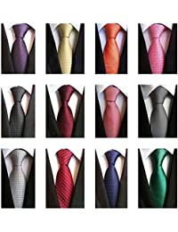 Lot 12 PCS Classic Men's Tie Silk Necktie Woven JACQUARD Neck Ties