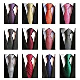 Weishang Lot 12 PCS Classic Men's 100% Silk Tie Necktie Woven JACQUARD Neck Ties(Style 7)