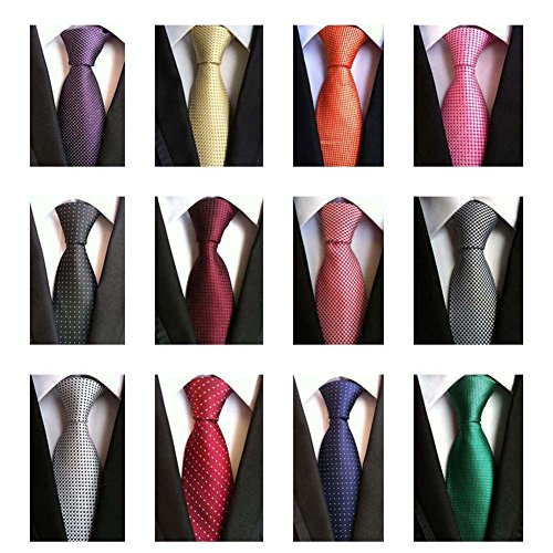 Weishang+Lot+12+PCS+Classic+Men%27s+Tie+Necktie+Woven+JACQUARD+Neck+Ties%28Style+7%29
