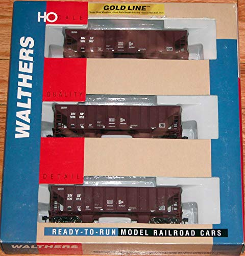 WALTHERS 932-34225 Gold LINE Ballast Hoppers 3-Pack BNSF ()