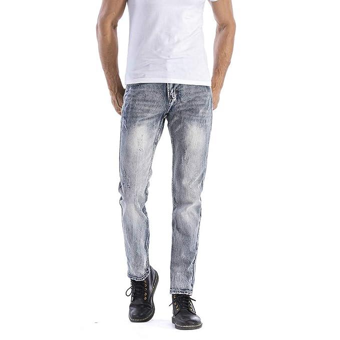 Hombre Pantalones Vaqueros Pitillos Jeans Vaqueros Rectos ...
