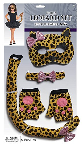 Amscan Girls Halloween Costume Accessory Set - Leopard - Nicki Minaj Halloween Costumes For Kids