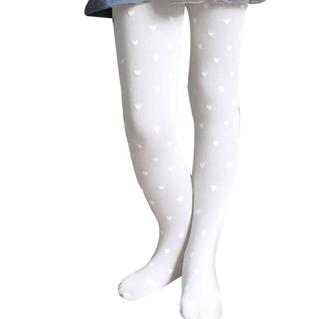 Shuohu GirlsTights,Polka Dot Love Heart Kids Ballet Dance Tights Socks Pantyhose
