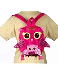 10 Pink Owl Girls Travel Backpack Buddies Stuffed Bookbag by Fiesta Toys