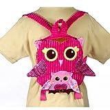 10″ Pink Owl Girls Travel Backpack Buddies Stuffed Bookbag by Fiesta Toys