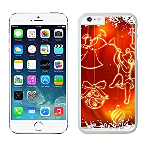 Iphone 6 Cases,Custom Design Christmas Stars Snowflakes White Apple Iphone Cases For Iphone 6 4.7 Inch