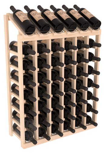 Wine Racks America Ponderosa Pine 6 Column 8 Row Display Top Kit. (6 Column Wine Rack)