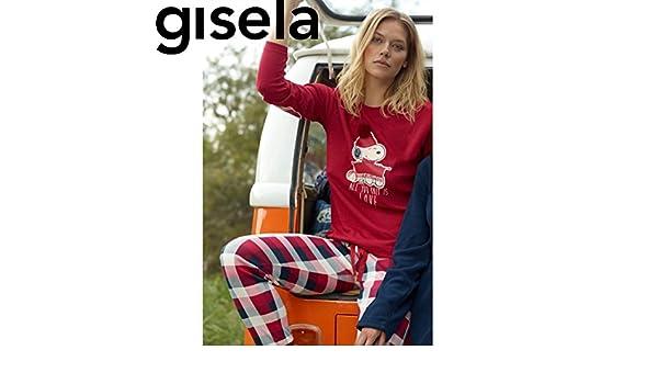 GISELA Pijama We Are Kinit Snoopy Camiseta Mas Pantalon Unico:Rojo Unico XL: Amazon.es: Ropa y accesorios