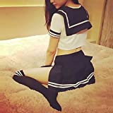 Lucky2Buy Sexy Cosplay School girl Lingerie Outfit Mini Sailor Suit with Stockings
