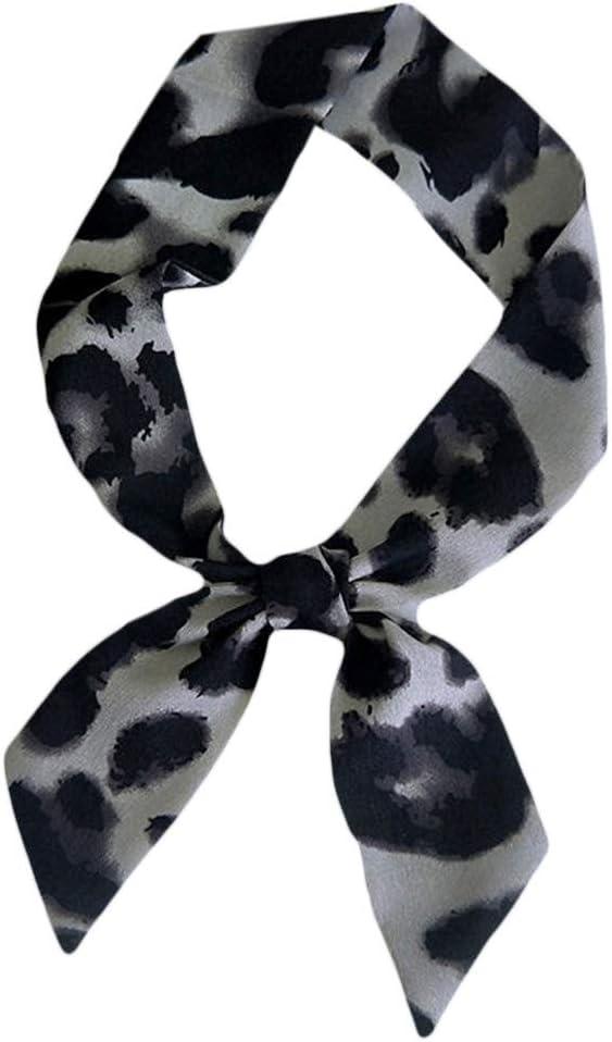 ecmqs bufanda mujer – Collar Mujer Leopardo pequeña bufanda Soyeux ...