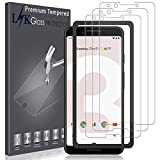 LK [3 Pack] Screen Protector for Google Pixel 3, [Tempered Glass][Bubble Free] Double