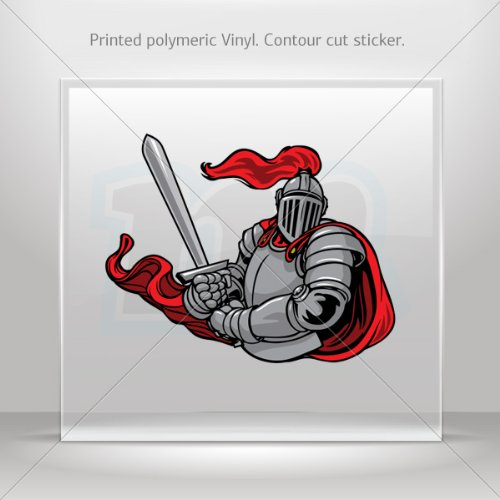 Stickers Decal Knight Warrior Decoration Bike Motorbike Bicycle Vehicl (16 X 12.6 Inches)