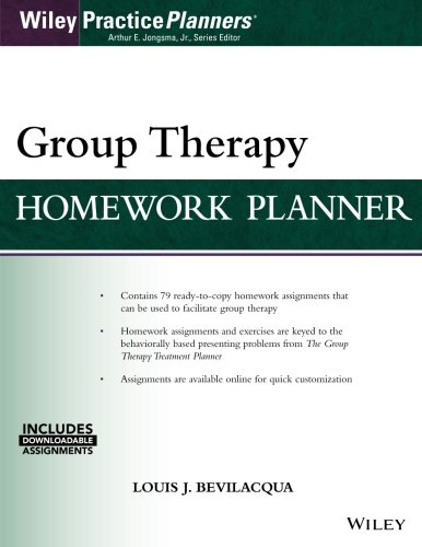 Group Therapy Homework Planner, with Download eBook (Wiley Practiceplanners)