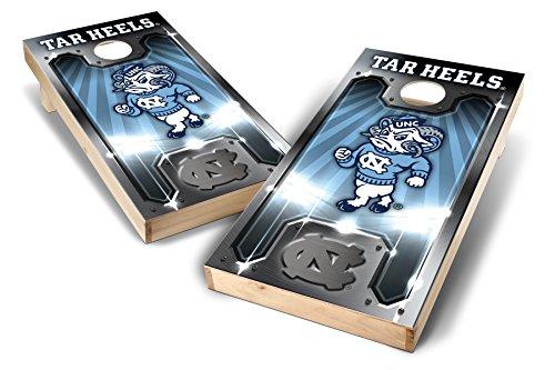 PROLINE NCAA College 2' x 4' North Carolina Tar Heels Cornhole Board Set - Plate