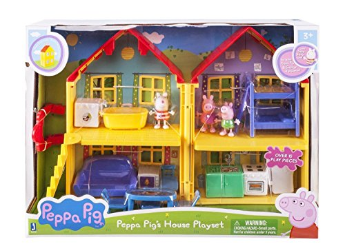 Peppa Pig Deluxe House Toys Playset Suzy George Peek Playhouse Usa Stock Kids   G14e6ge4r Ge 4 Tew6w218419
