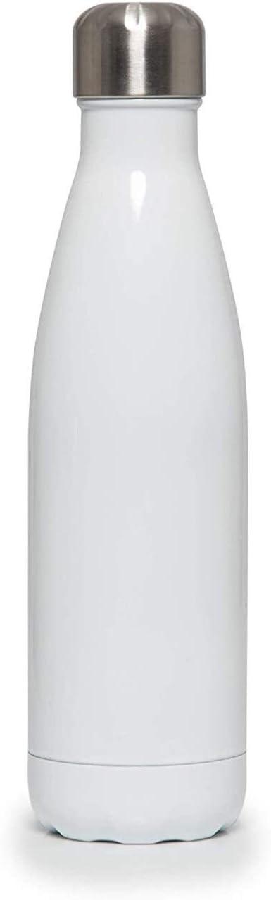 Festival Edelstahl Trinkflasche Insulated Metal Sport Gym Trinkflasche 500ml Chillys Flaschen |Wasserflasche |Doppelschalig Vacuum Insulated Silver