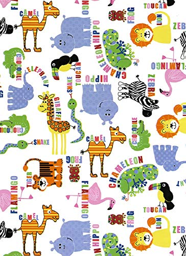 Scattered Animals Gift Wrap Roll - 24