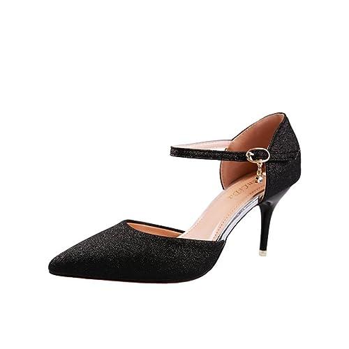 Zapatos verano Beautyjourney de de tacón mujer elegantes para Sandalias ul3FJ1c5KT