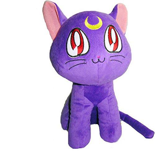 Anime Sailor Moon Cartoon Cat Luna Plush Toys Stuffed Dolls Purple