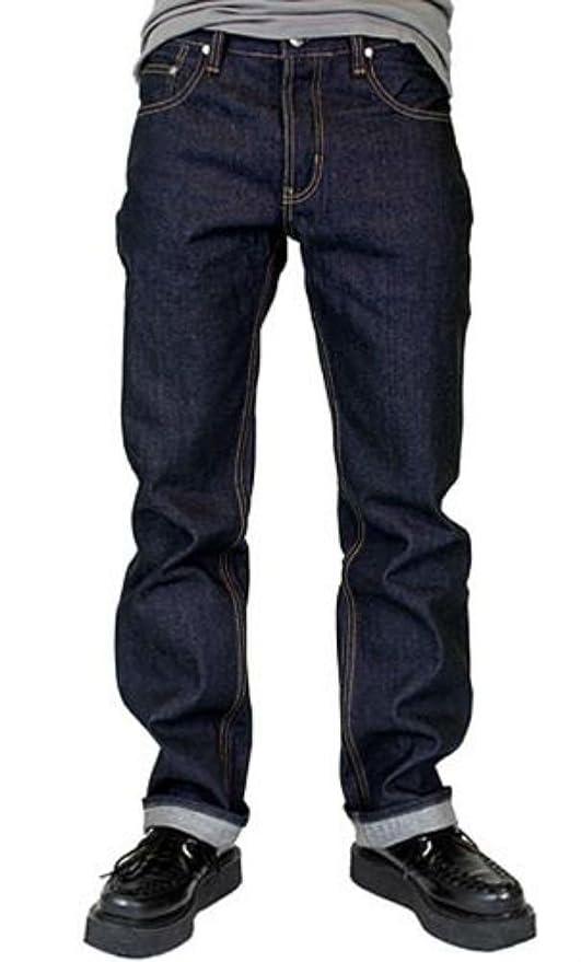 Easy1940sMen8217sFashionGuide Lip Service Indigo Bull Denim Biker Motorcycle Rockabilly Greaser Jeans Pants $24.99 AT vintagedancer.com