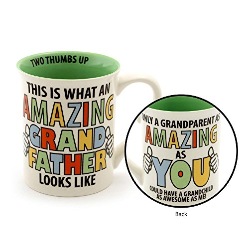"Our Name is Mud ""Amazing Grandfather"" Stoneware Coffee Mug, 16 - Coffee Mugs Names"