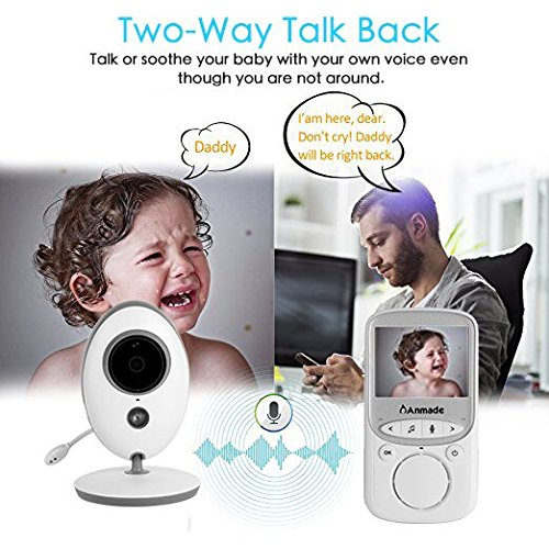 Video Baby Monitor Wireless with Digital Camera,Anmade 2 Way Talkback, 2.4inch Screen Night Vision Temperature Monitoring Lullabies Long Range and High Capacity Battery for Security post thumbnail