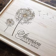 Custom Engraved Cutting Board - Round Stamp Design for Housewarming or Anniversary Gift. (#406)