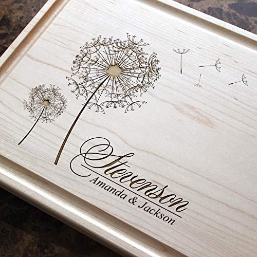 - Personalized Cutting Board, Custom Keepsake, Engraved Serving Cheese Plate, Wedding, Anniversary, Engagement, Housewarming, Birthday, Corporate, Closing Gift #406