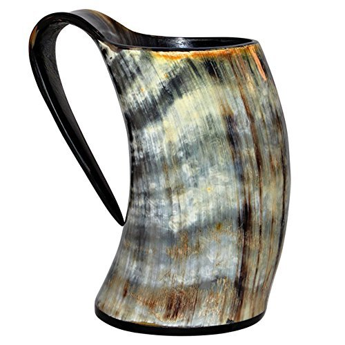 Viking Cup Drinking Horn Tankard Authentic Medieval Inspired drinking Mug ()