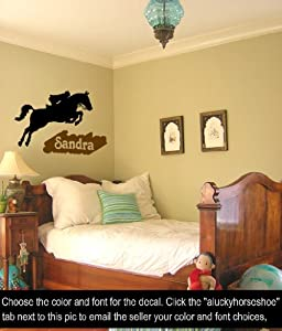 Horse Wall Decal Personalized Vinyl Wall Sticker Girls Room Decor 31 X 23  Inches Part 55