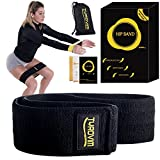 Soft & Non Slip Fabric Hip Band | Exercise Band for Butt, Thighs and Glutes Workout with Carrying Bag | Resistance Heavy Duty Booty Bands for Squat and Leg | Women and Men | BONUS Arms Loop Band| For Sale