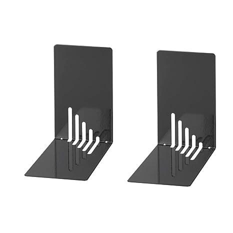 Wedo 1021001 - Sujetalibros de metal, estrecho, 2 unidades, 14 x 8.5 x
