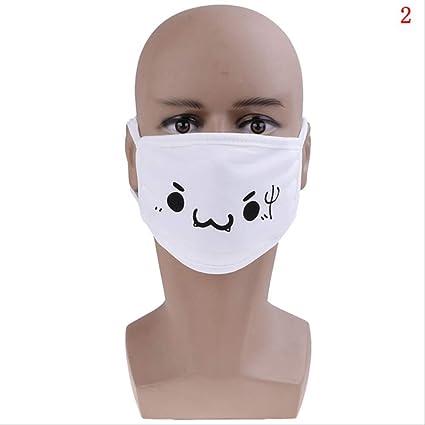 FSYX Mascarilla Negro Blanco Polvo Algodón Lindo Oso Anime Dibujos Animados Máscara Hombre Y Mujer 2: Amazon.es: Belleza
