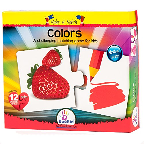 Make A Match Baby Puzzle Games - Colors. For 2.5+ Years Old by BooKid Toys