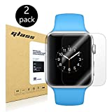 [2-Pack] Apple Watch 38mm Smart Watch Screen Protector, HoPerain [Tempered Glass] 9H Hardness, Anti-Scratch, Anti-Fingerprint