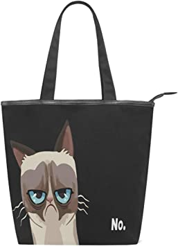 Pouch NEW Black Cat Foldable Nylon Shopping Gym Swimming Book Bag