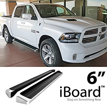 Ram 1500 Running Boards >> Amazon Com Eboard Running Boards Silver 6 For 2009 2018 Dodge
