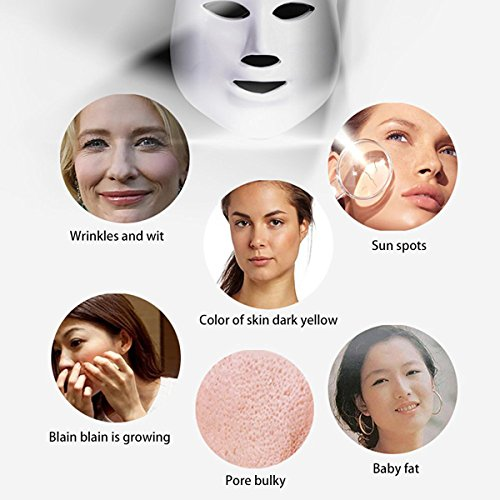 NEWEST LED Photon Therapy 7 Colors ( Red Blue Green )Light Treatment Facial Beauty Skin Care Rejuvenation Pototherapy Mask PDT Beauty Face Care for Home by Angel Kiss (Image #4)
