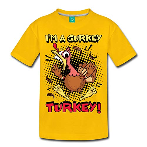 Spreadshirt FGTeeV I'm A Gurkey Turkey Kids' Premium T-Shirt, Youth XS, Sun Yellow