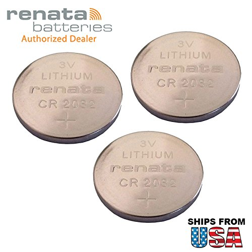 3x Renata CR2032-MFR 3V Lithium Coin Battery Pressure Contacts For PC CMOS ThinkPad T30 2367 14.1 SXGA ThinkPad T30 2367 14.1 XGA ThinkPad T43 1871 Compaq Presario V6100 Lenovo T43 Laptop -